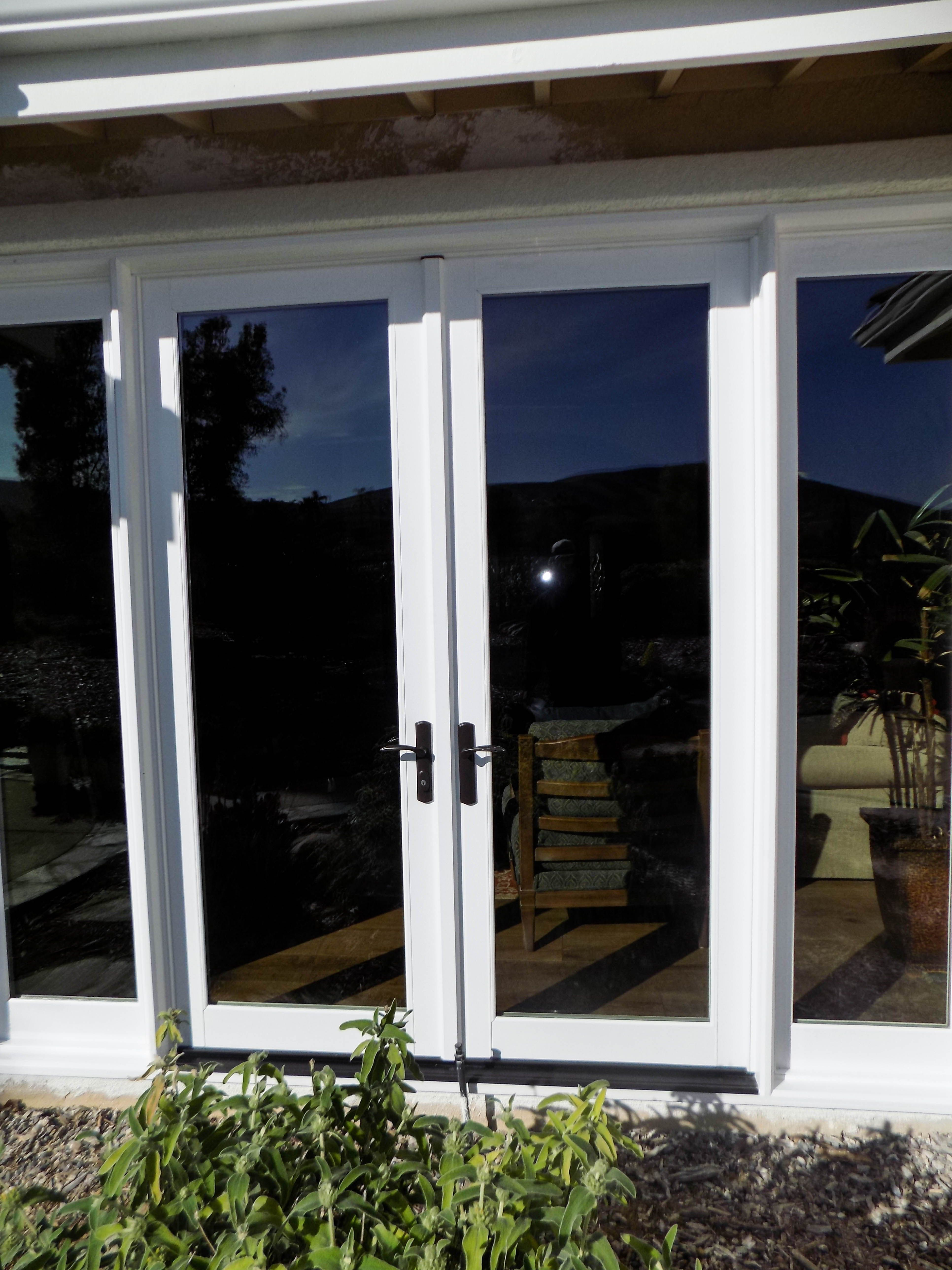 Check Out This Installation We Did Of Double Stowaway Retractable Screens Over Inswing Double Doors With Retractable Screen Door Screen Door Retractable Screen
