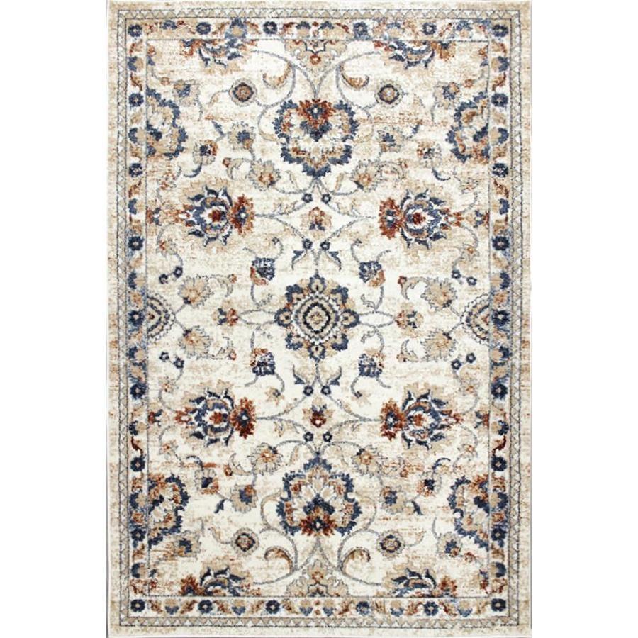 Carpet Art Deco Milos 5x7 Beige Area Rug Cream Rectangular Indoor