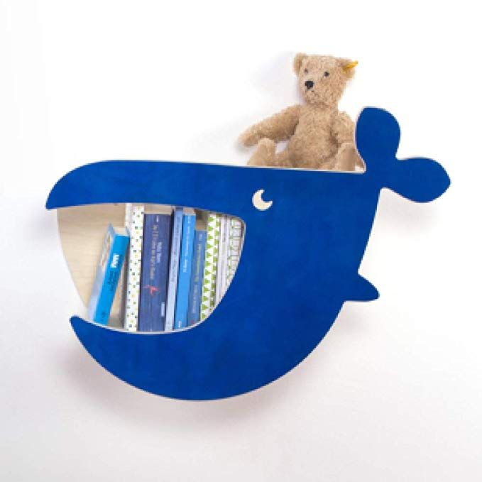 JulicaDesign Bücherregal Kinder Wal MOBY Kinderregal