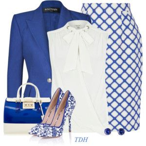 Love the Blue & White and the patterns.