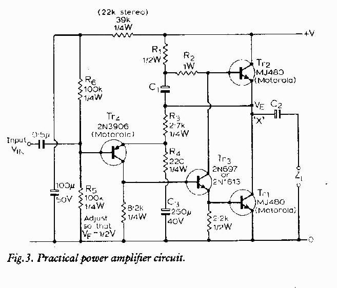 a practical power amplifier circuit tech pinterest tech rh pinterest com Electronic Circuit Animation Schematic Circuit Diagram