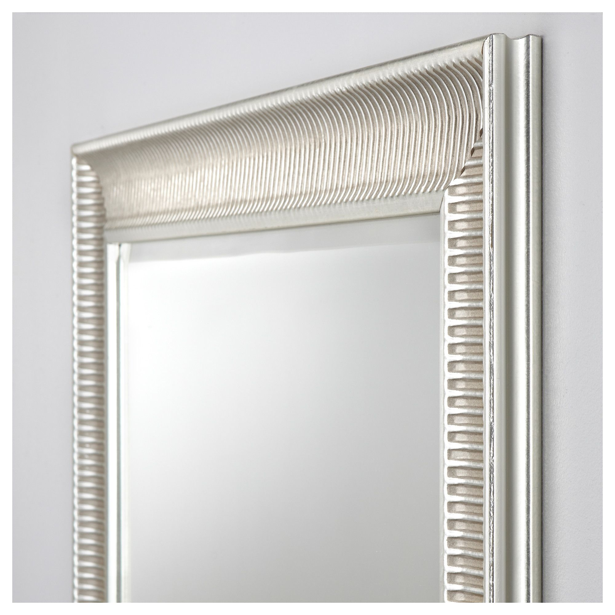 Ikea Songe Mirror Silver Color Lighted Wall Mirror