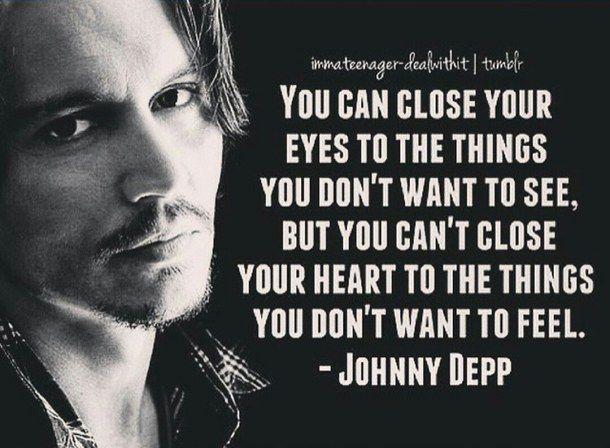 Always Close Eyes Feel Forever Heart Johnny Depp