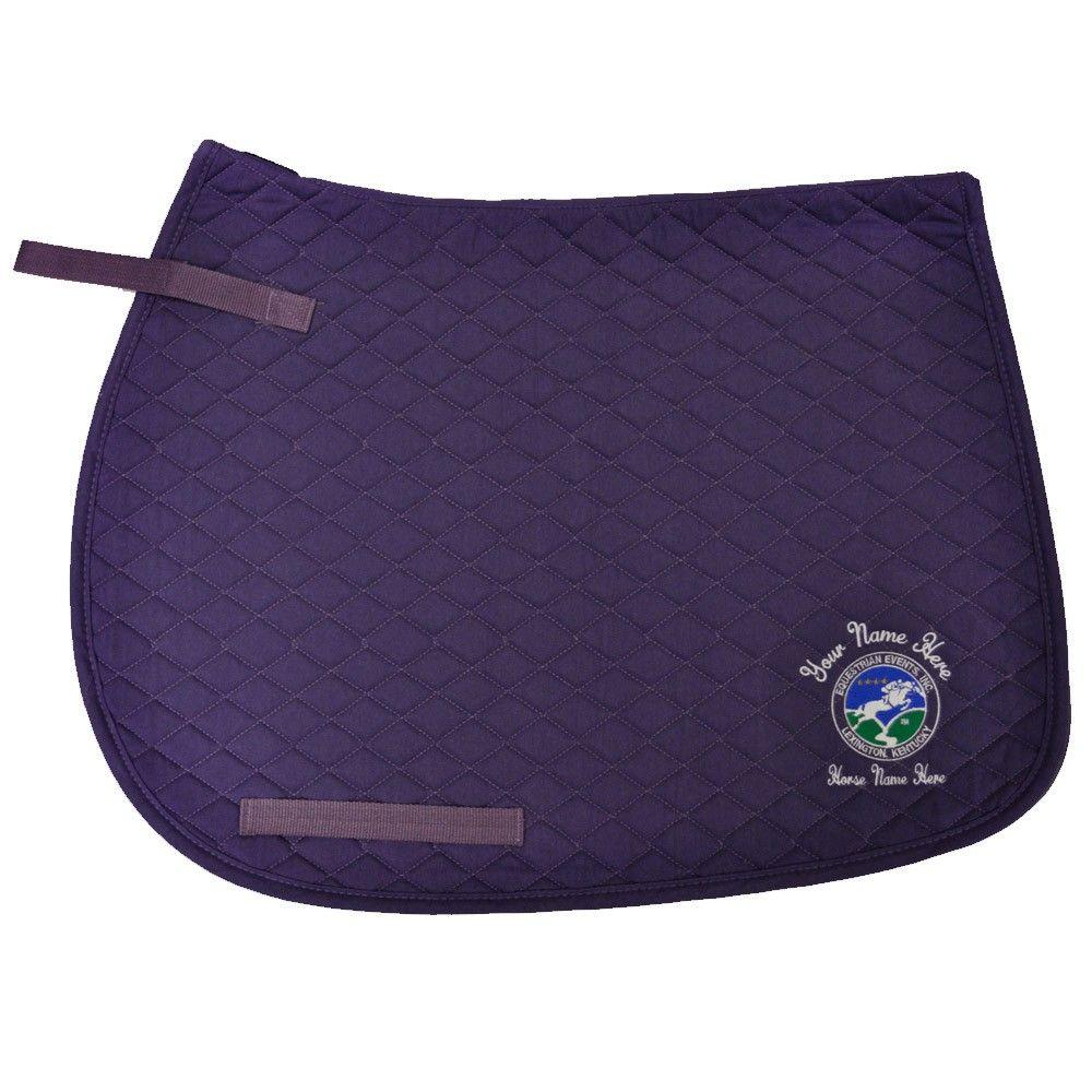 Customizable Purple All Purpose Saddle Pad