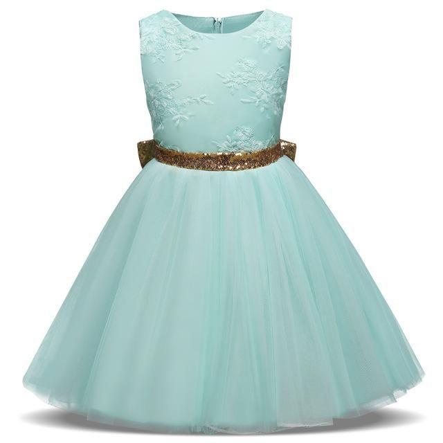 Aini Babe Baby Girl Toddler Girl Princess Dress Lace Christening ...