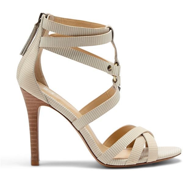 Joes Jeans Verona Ii Caged Dress Sandal featuring polyvore women's fashion  shoes sandals latte leather sandals