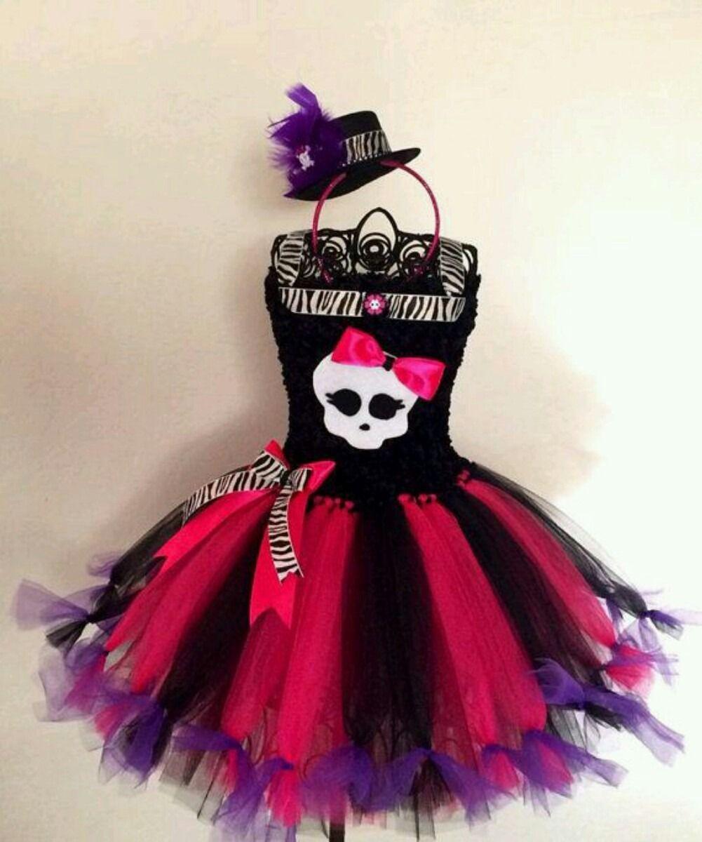 Vestido Disfraz Tutu Monster High Único! -   850 e4585f035ff