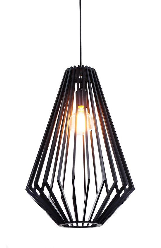 Sven Black Wood Large Pendant Modern Pendants Pendant Lights