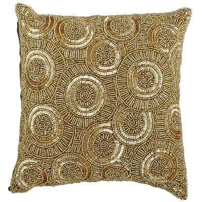 Calico Swirl Beaded Pillow Gold Beaded Pillow Gold Pillows