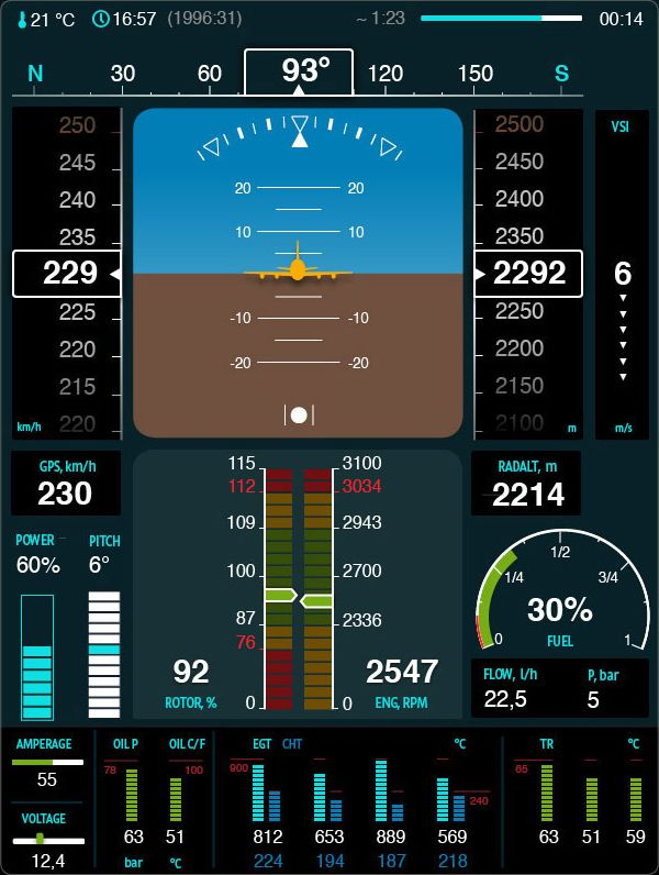 Diagram Scout Helicopter Air Navigation Display Interface