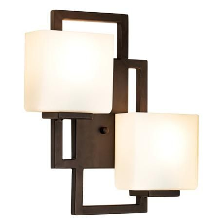 """Lighting on the Square Bronze 15 1/2"""" High Wall Sconce 