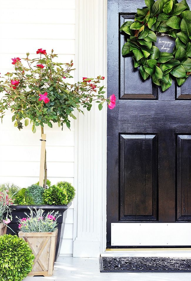 Spring Door Decorating Ideas Front door planters, Spring
