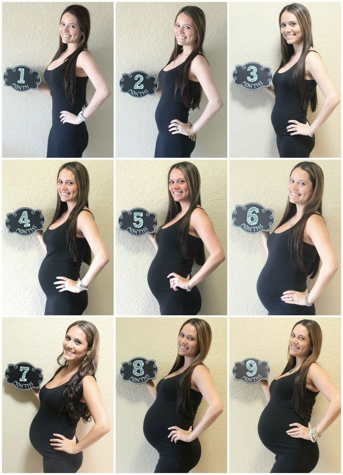Baby Bump Week by Week Chart