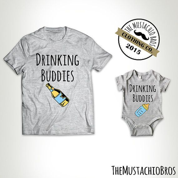 b1a1c7e6 Drinking Buddies - Father Daughter Matching Shirts Father And Son Gift  Daddy Baby Shirt Matching Family Outfits Bodysuit MB688-MB689