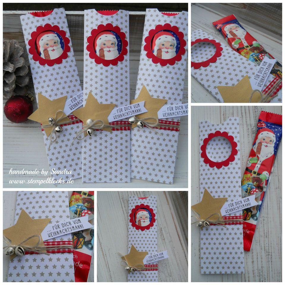 Weihnachtsmann am Stiel – Geschenkbox basteln