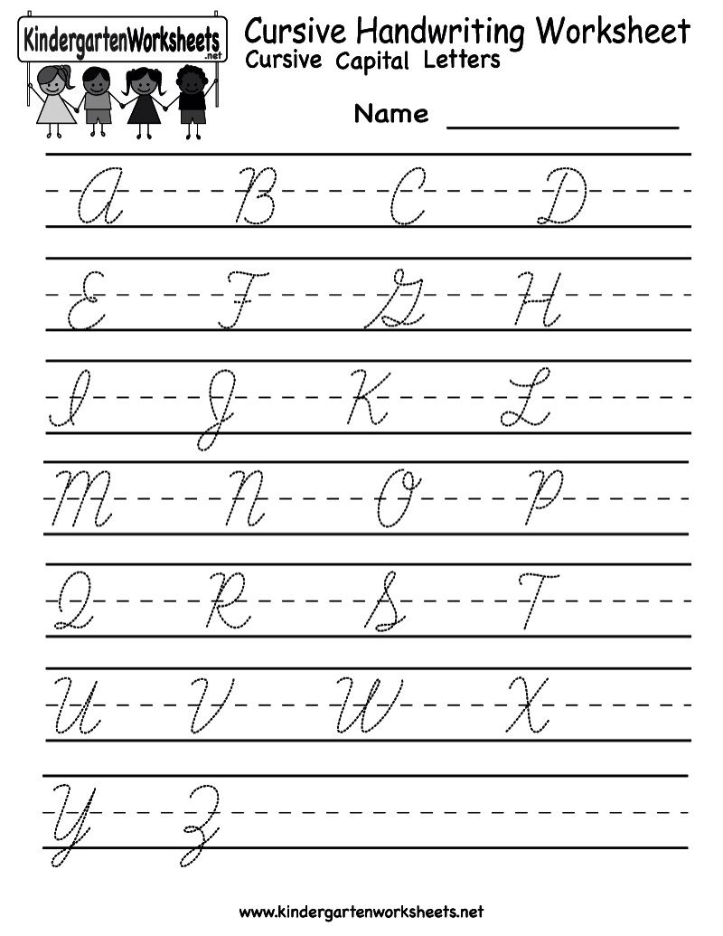 Worksheets Kindergarten Handwriting Worksheet Maker cursive writing practice sheet 1 childrens education handwriting worksheet free kindergarten english for kids