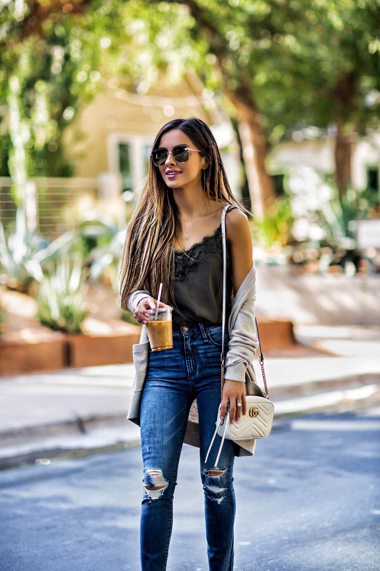 fashion blogger mia mia mine wearing an olive lace cami from abercrombie be7f112b8