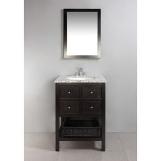 New Haven Espresso Brown 24 Inch Bath Vanity With 2 Drawers And
