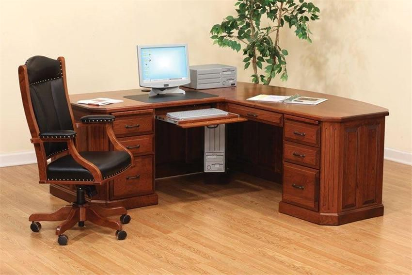 Amish Fifth Avenue Executive Corner Desk Part 66