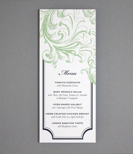 Invitation Template – Tea Length Florid Scroll | Scroll invitation ...