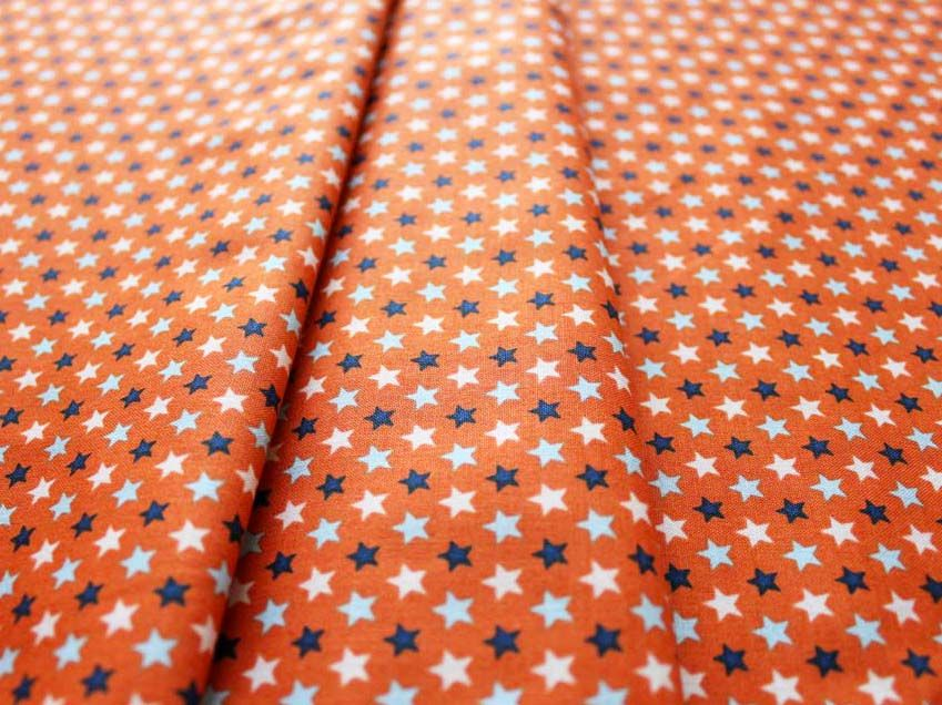 Riley Blake Rocket Age Stars Orange C3805