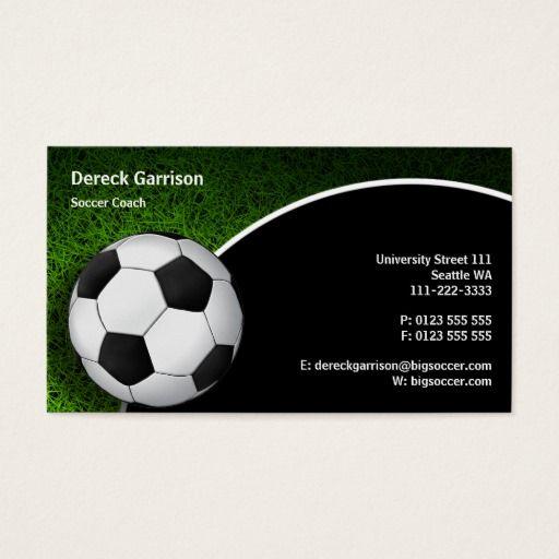 Soccer Football Sports Coach Business Card Zazzle Com In 2021 Soccer Sports Coach Magnetic Business Cards