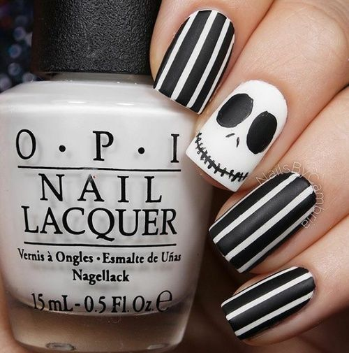 The Nightmare Before Christmas Nail Art Tip Top Nails Pinterest