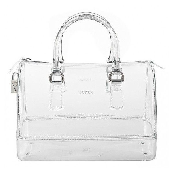 Designer Inspired Handbag Transparent Clear Silver 2 Bags In One Large Size NEW