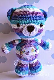 Es un Mundo Amigurumi: Patrón Gratis!!! Osito Multicolor...