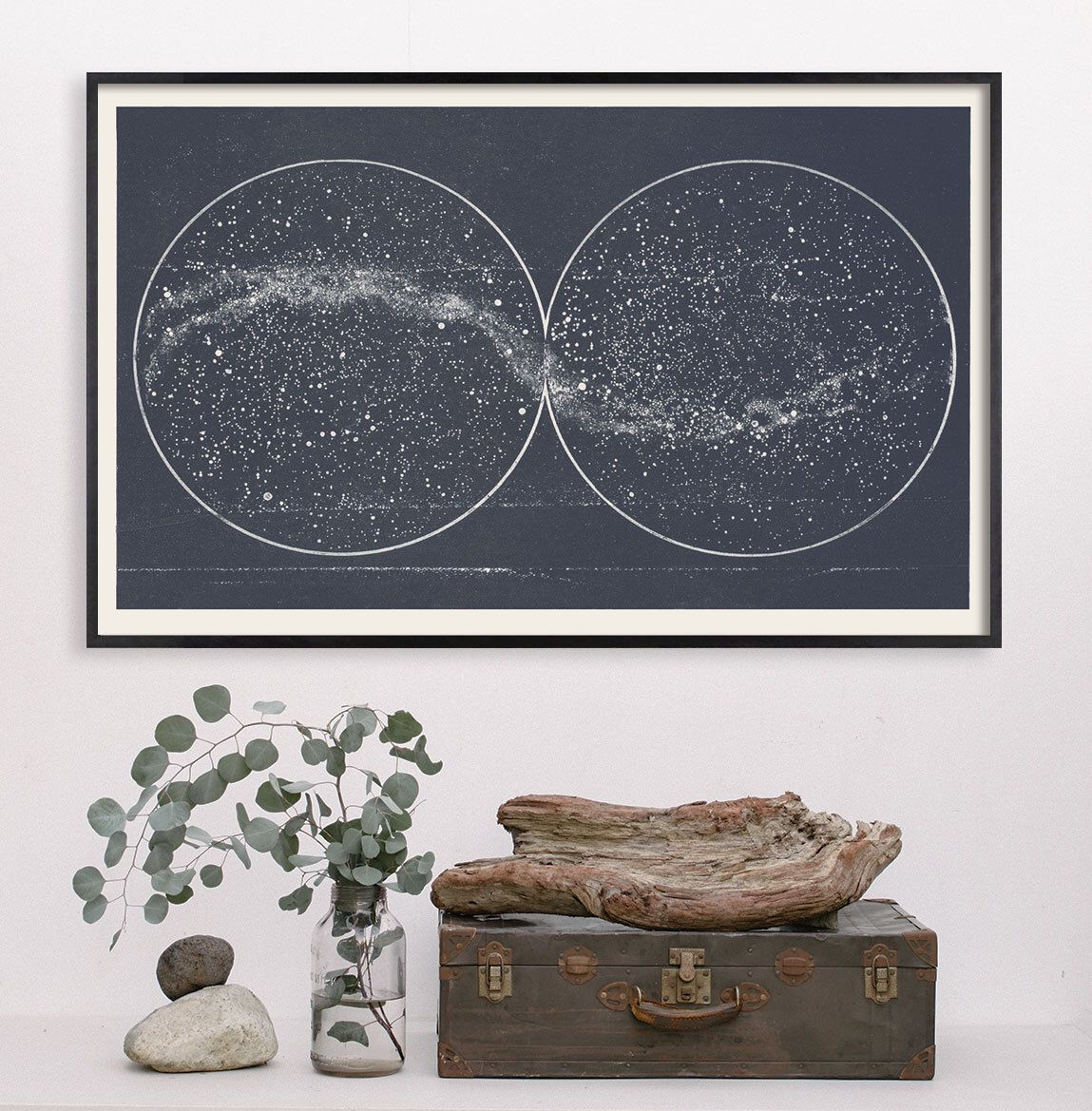 Star Map Star Chart Print Double Constellation Hemispheres