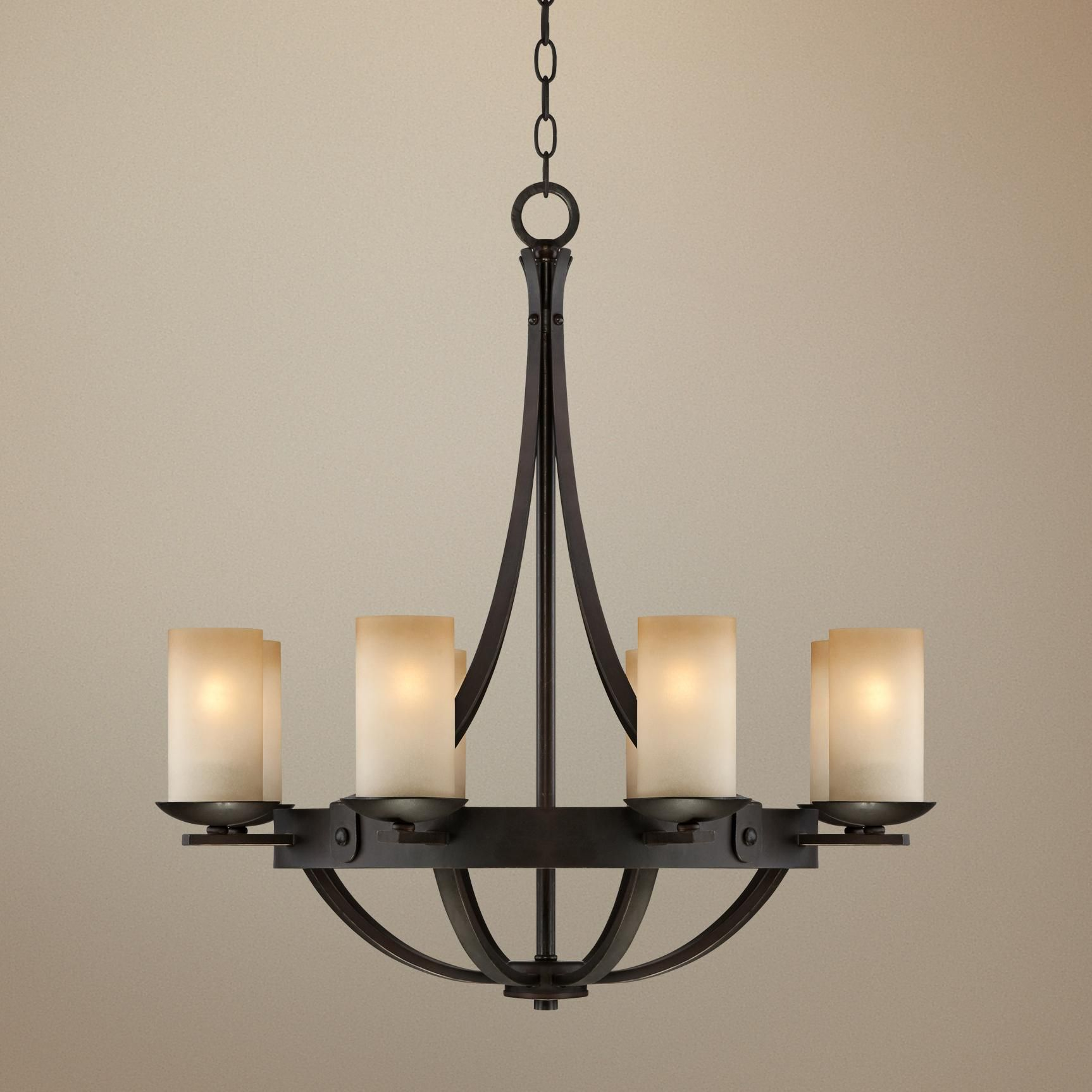 "Glass Chandeliers For Dining Room: Sperry Bronze 28"" Wide Scavo Glass Chandelier In 2019"