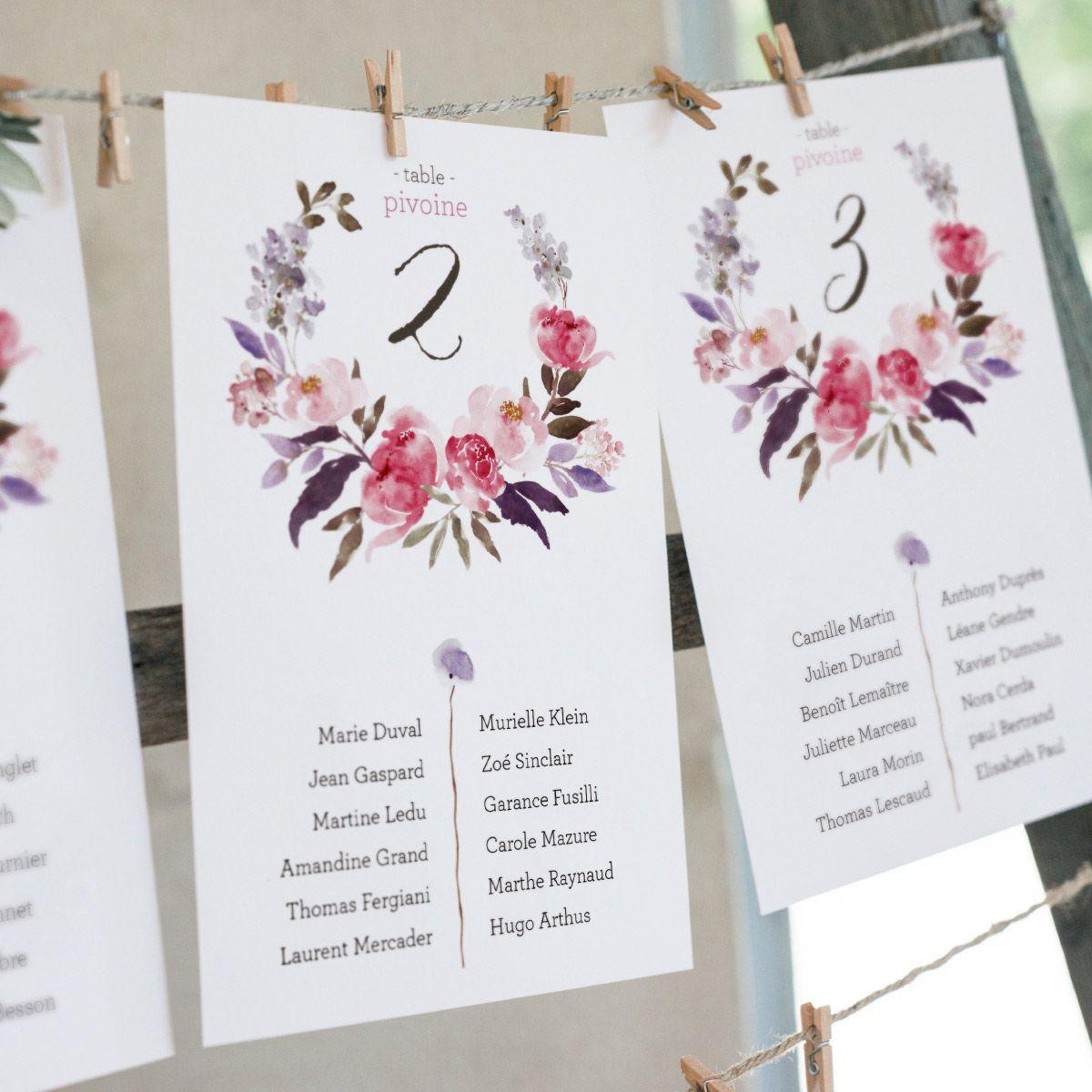 Grande Carte Avec Les Noms De Vos Convives Et Leur Place A Table Une Carte Par Table Ave Idee Nom De Table Mariage Nom De Table Mariage Plan De Table Mariage