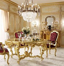 Mobili per il soggiorno classico e di lusso in stile - Mobili stile veneziano ...