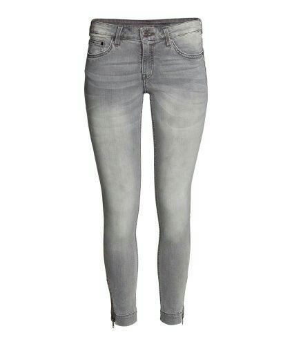 H&M. Skinny low ankle jeans grey.