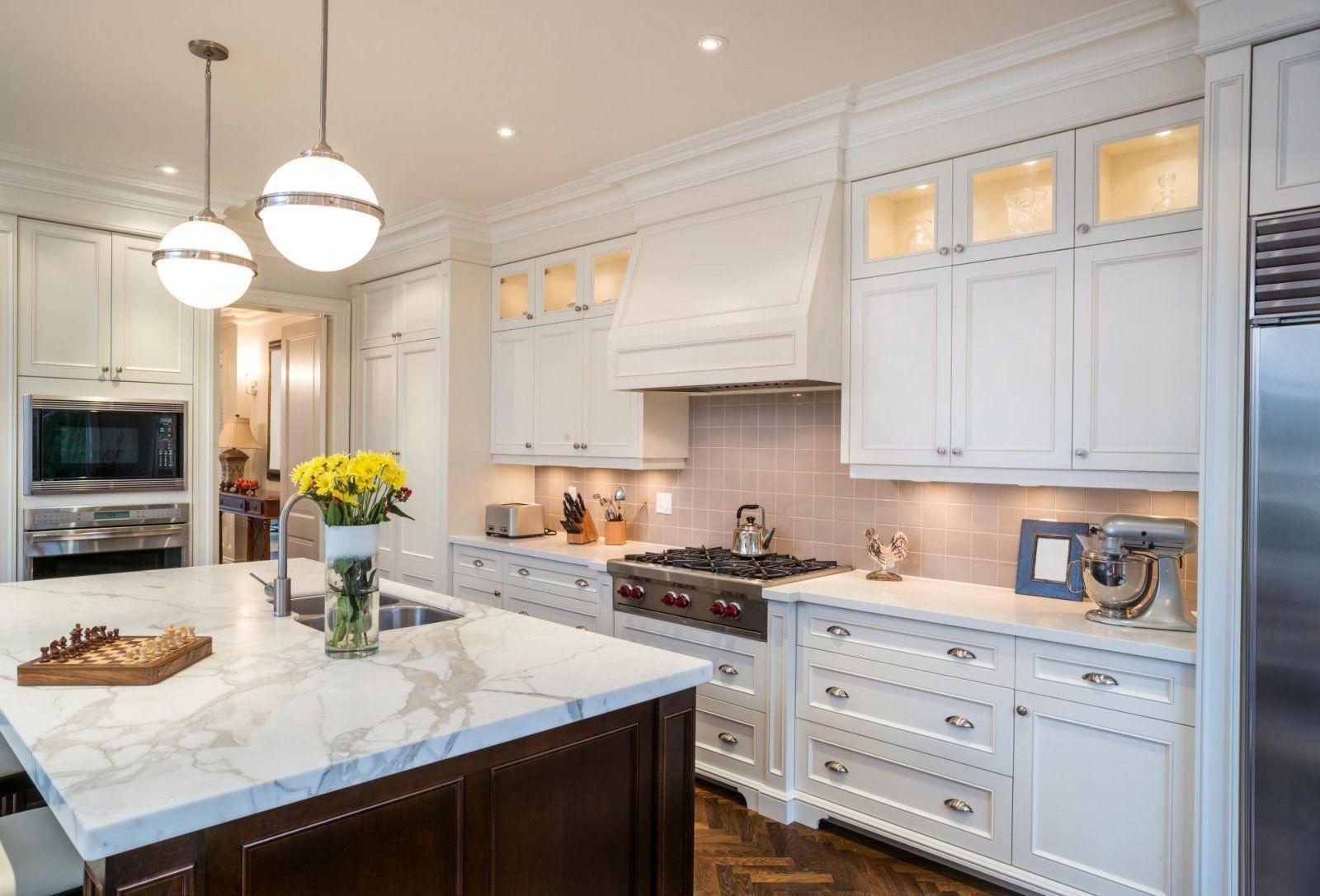espresso chicago rta kitchen cabinets with white marble countertop ...