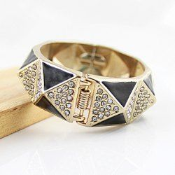 $4.87 Exquisite Stunning Rhinestoned Women's Geometric Alloy Bracelet
