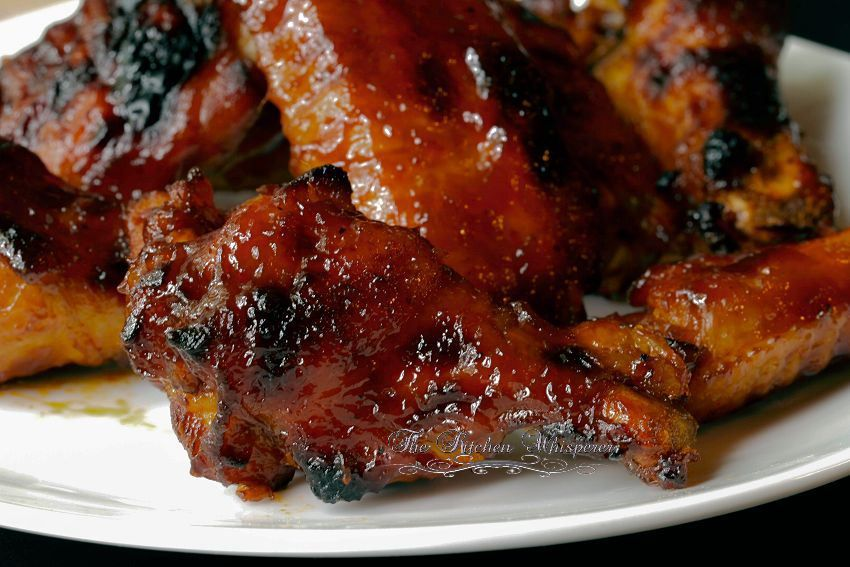 The Kitchen Whisperer Pressure Cooker Wings with Bourbon Honey BBQ Sauce