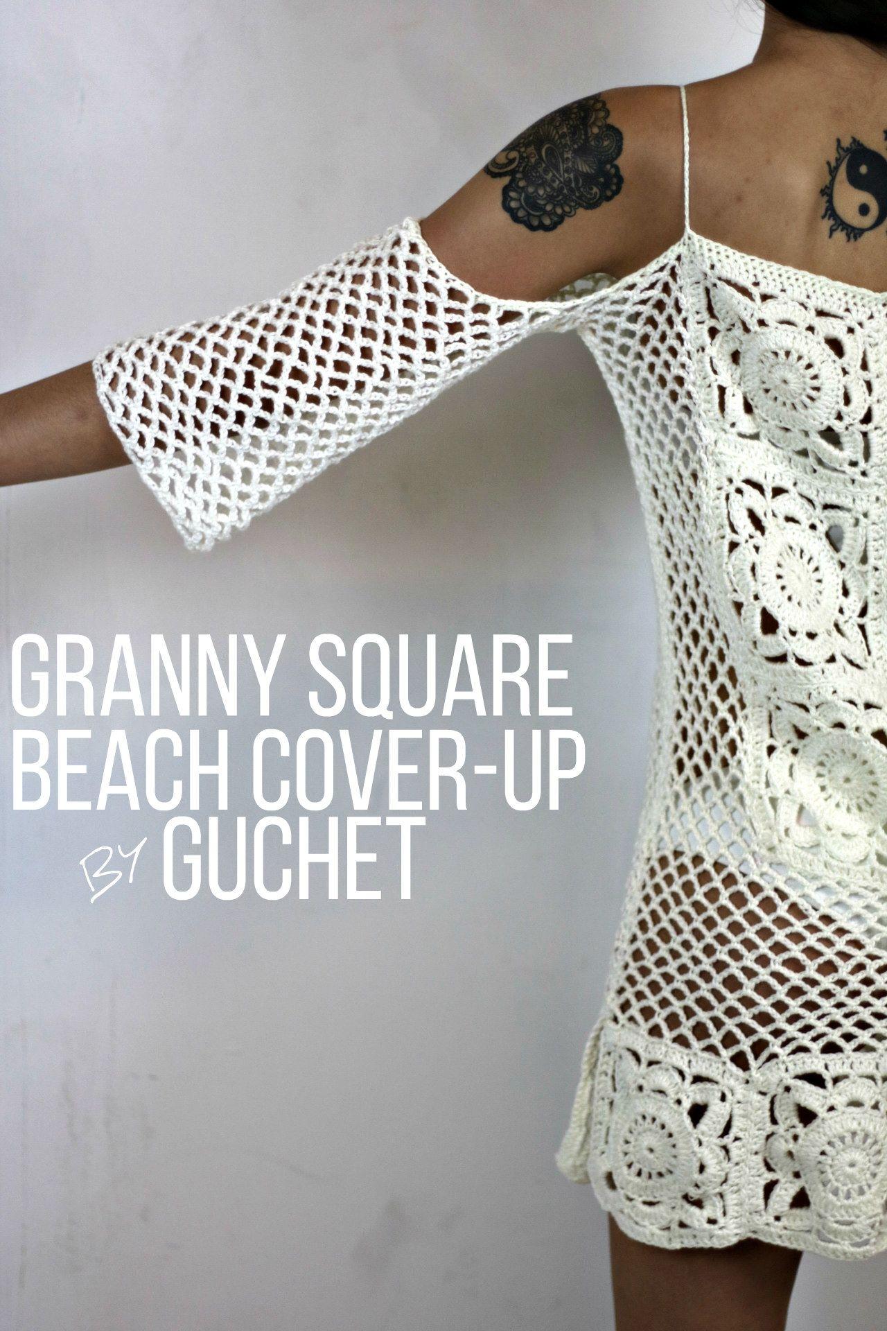 Crochet swimsuit cover pattern by guchet beach covers crochet crochet beach cover up crochet pattern bankloansurffo Images