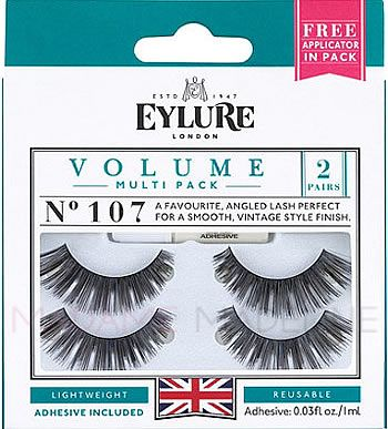 e78353a0c95 Eylure Naturalites VOLUME Twinpack N° 107 contains 2-pack of strip lashes  to enhance the natural beauty of your eyes. #madamemadelinelashes  #Falselashes