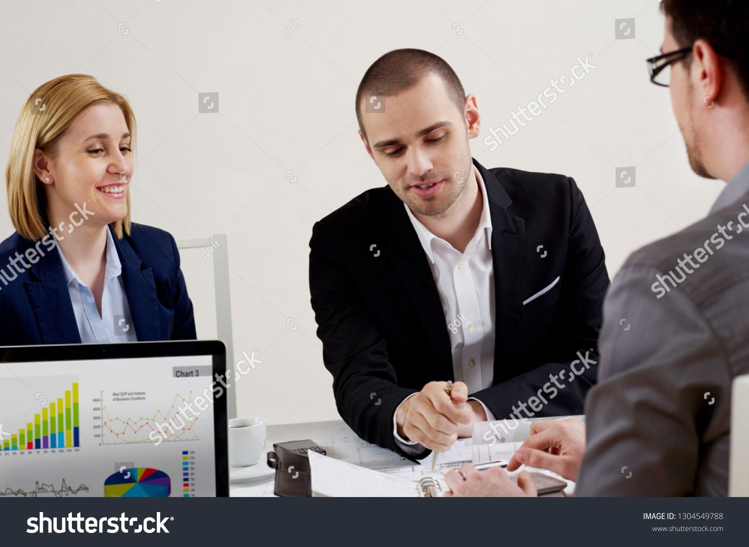 Business People In At Office In Meeting Sponsored Ad People