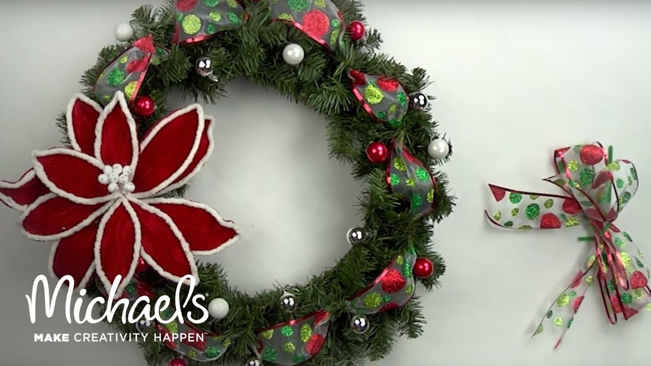 DIY Holiday Wreath Michaels YouTube Holiday wreaths