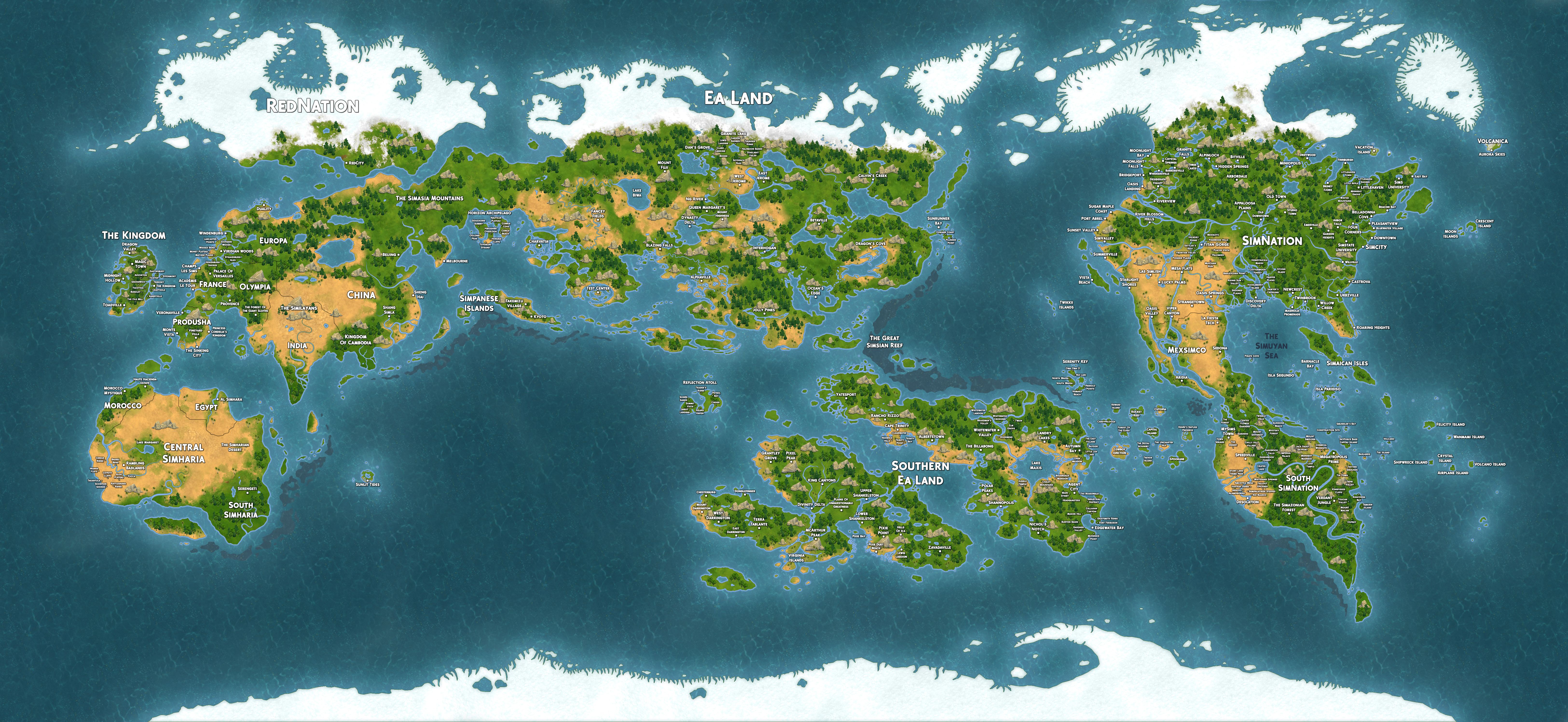My map of all the towns from every sims game updated 1409 my map of all the towns from every sims game gumiabroncs Image collections