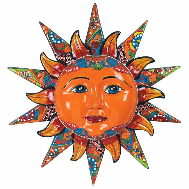 20 Talavera Sun Face Multi Dimensional Mexican Wall Art Tiles