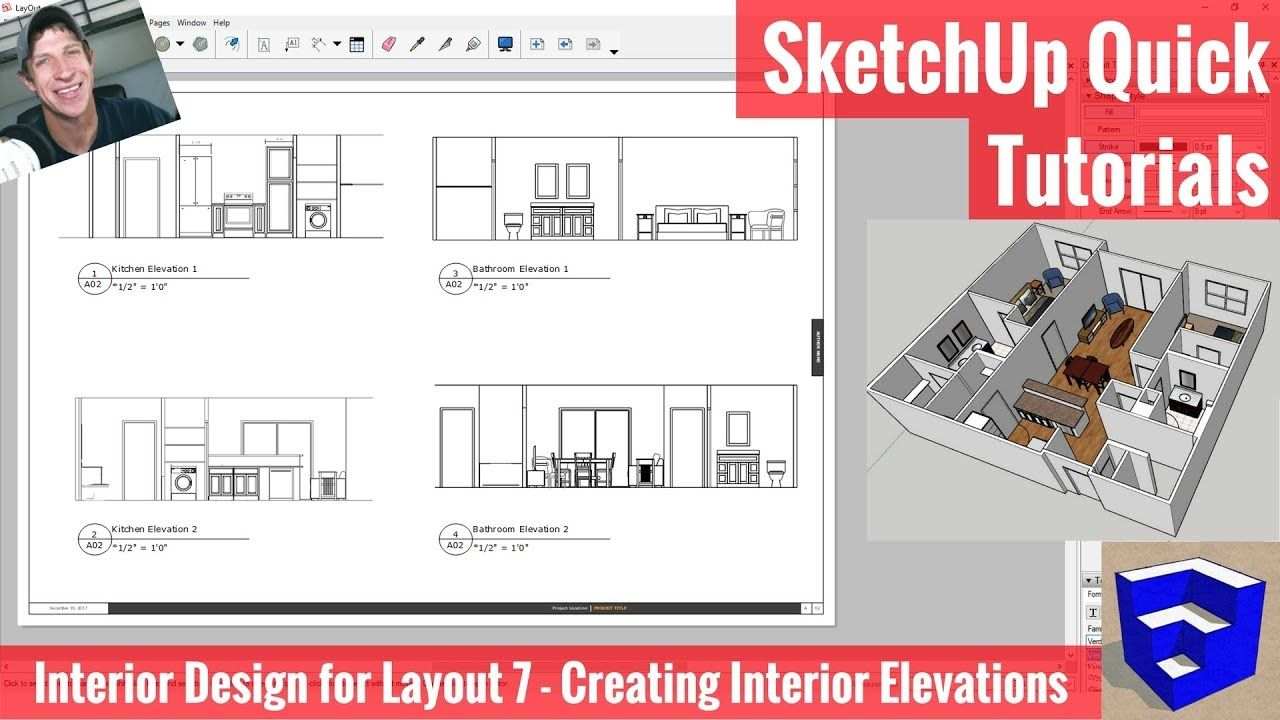 Interior Elevations In Layout From Your Sketchup Model Interior