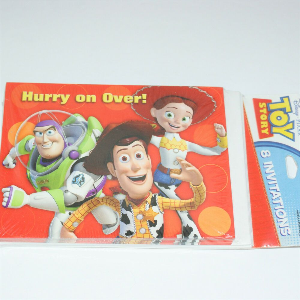 Toy Story Invitations Birthday Party Hurry On Over Buzz