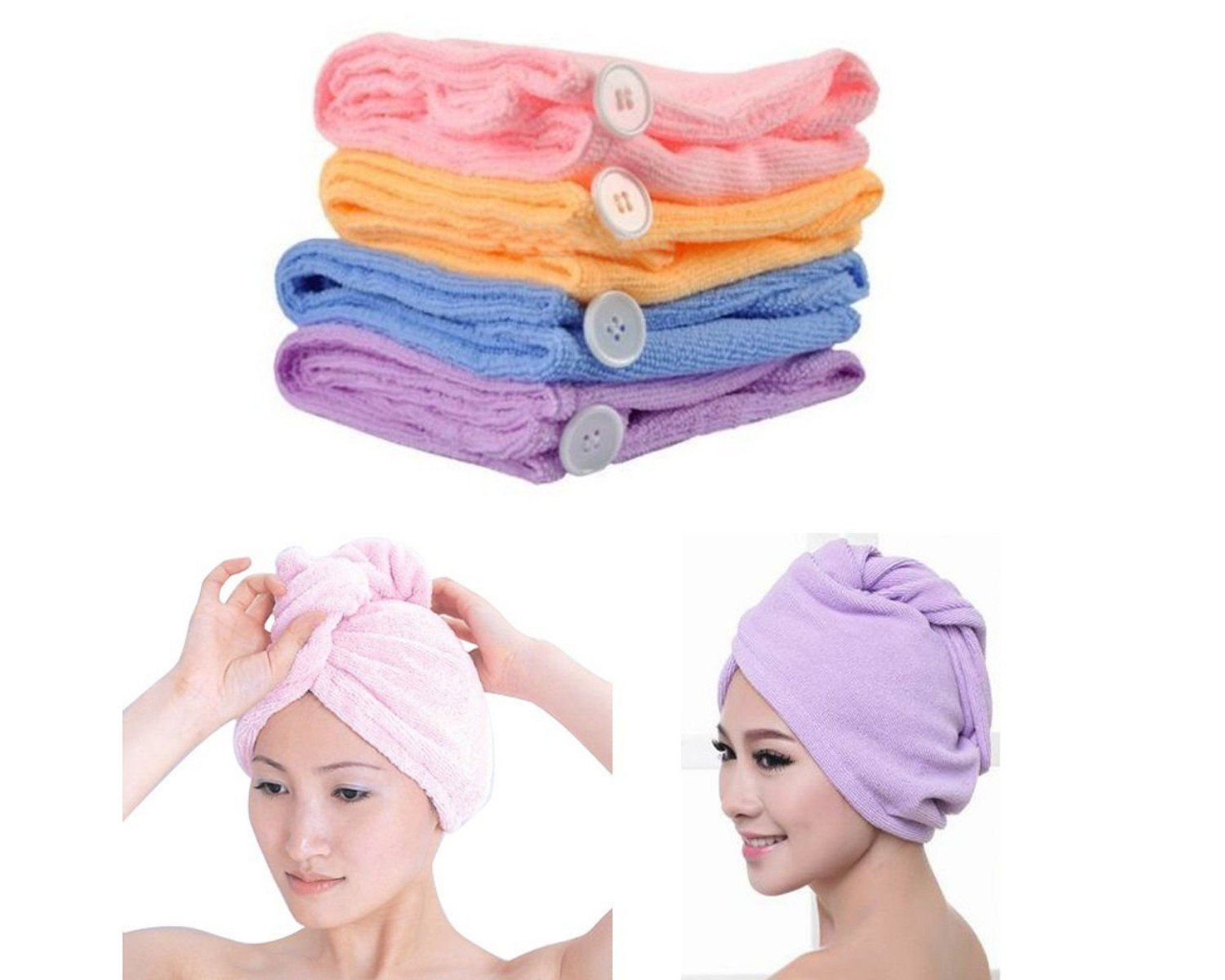 Towel Me Wrapping O Fiber Hair Wrap Towel Pack Of 2 Hair Towel Wrap Hair Towel Dry Hair Fast