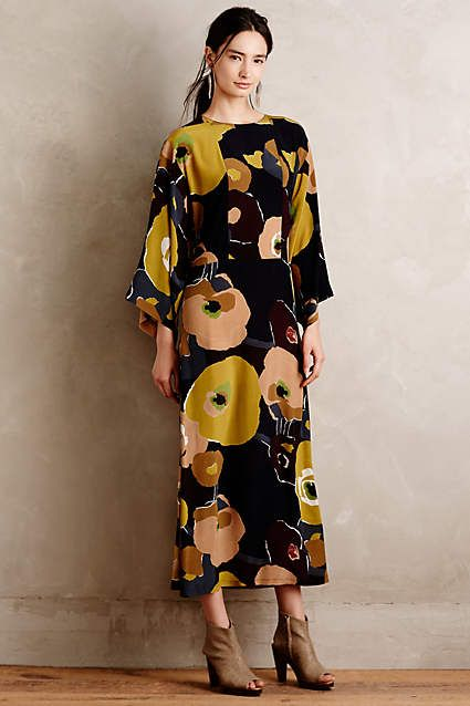 Orto Silk Maxi Dress - #anthrofave