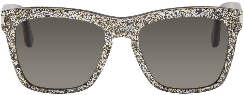 048fb1c1b71 Saint Laurent - Silver SL 137 Devon Sunglasses $400. Square acetate  sunglasses in black.