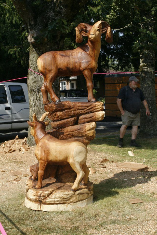 World class chainsaw carving competition hopebc