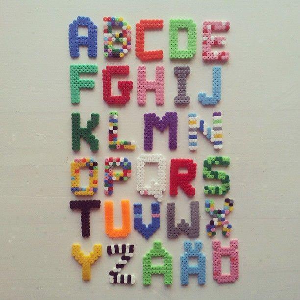 hama perler alphabet by belindaeleonora perler
